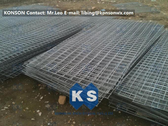 Hot Dipped Galvanized Galfan Welded Gabion Mesh PVC / Stainless Steel Wire