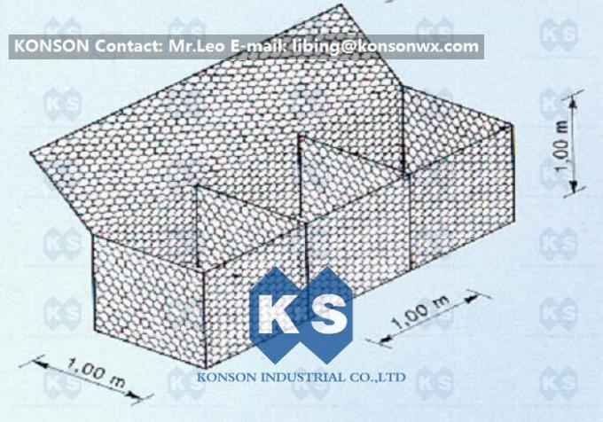 Double-Twisted Gabion Boxes Retaining Wall Structures Wire Diameter 2.7mm