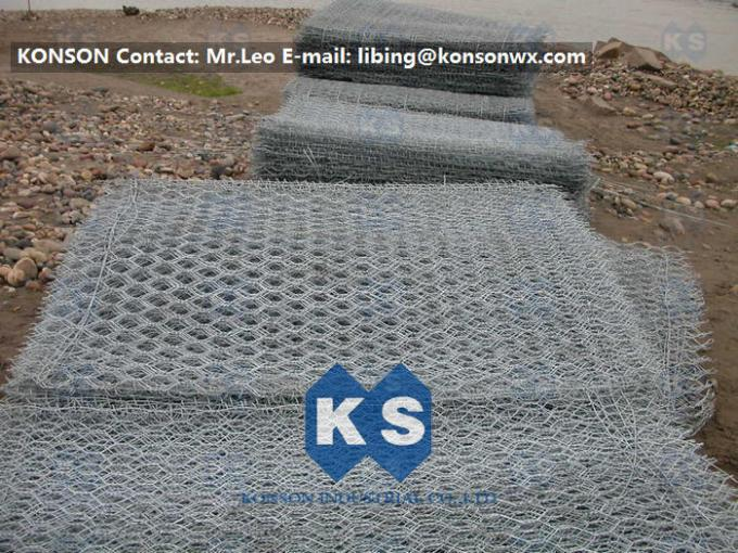 Coastal Protection Gabion Mesh Boxes with Double Twisted Hexagonal Wire Mesh