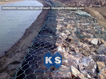 Trung Quốc Coastal Protection Gabion Mesh Boxes with Double Twisted Hexagonal Wire Mesh nhà cung cấp