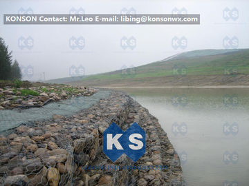 Trung Quốc Galvanized Wire Stone Gabion Basket For River Crossing / Marinas / Seashore Protection nhà cung cấp