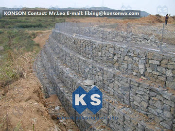Trung Quốc Galvanized Wire Gabion Retaining Walls Plastic or Stainless Steel Wire PE Coating Gabion Mattress nhà cung cấp