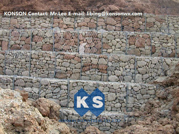 Trung Quốc Hexagonal Wire Mesh Gabion Retaining Wall with Polyethylene PE Coated Gabion Wire nhà cung cấp