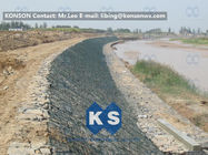 Trung Quốc Large Stone Gabion Boxes / Gabions And Mattresses 80mm x 100mm 2.7mm Wire Dia Công ty