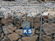 Trung Quốc PVC / Zinc Coated Wire Mesh Gabion Retaining Wall , Galvanized Hexagonal Wire Fence Công ty